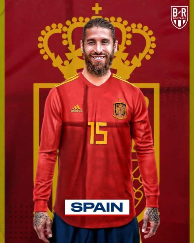 Áo đấu Euro của đội tuyển Tây Ban Nha