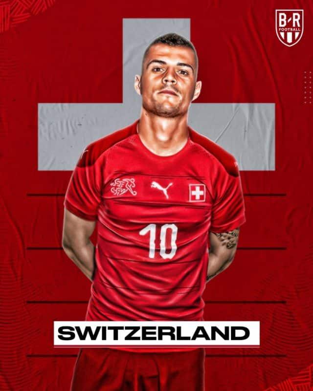 Áo đấu Euro của đội tuyển Thụy Sĩ
