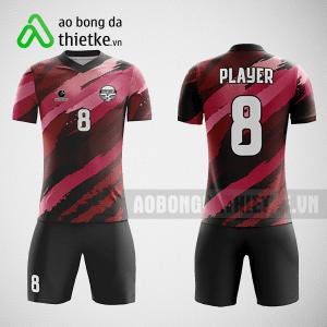 Mẫu áo bóng đá thiết kế màu đen hồng ABDTK224