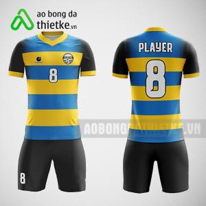 Mẫu áo bóng đá thiết kế màu xanh vàng đen ABDTK220
